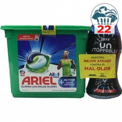 Ariel Ariel All in 1 Cápsulas Más Lenor Unstoppables Perlas