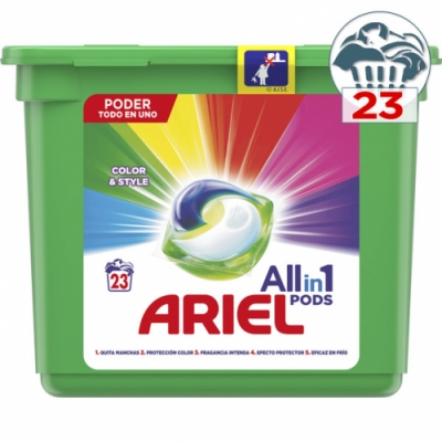 Ariel Ariel Líquido All En 1 Caps Color