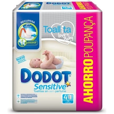 Dodot Toallitas Sensitive Pack 216 Unidades