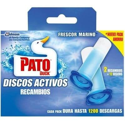 Pato WC Desinfectante WC Recambio Gel Discos Marinos