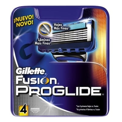 Gillette Cargador Fusión Proglide Manual 4 Cabezales