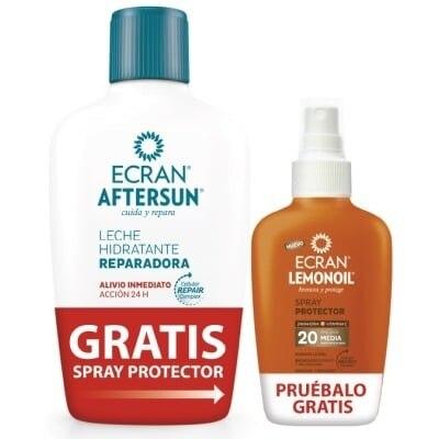 Ecran Leche Hidratante Aftersun Mas Bronceador Lemonoil Spray 400 Ml