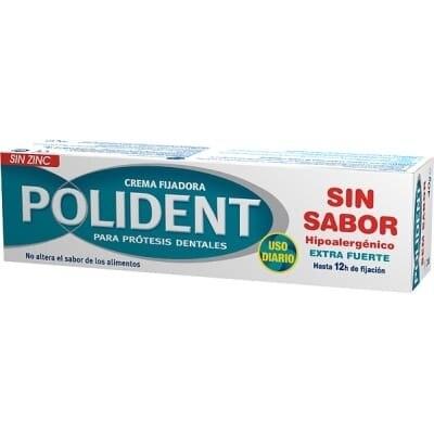 Polident Crema Fijadora Prótesis Dentales Sin Sabor