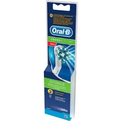 Oral-b Recambio Cepillo Dental Eléctrico Cross Action 2 Unidades