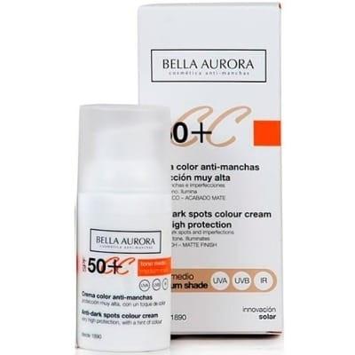Bella Aurora CC Cream Color SPF50 Tono Medio