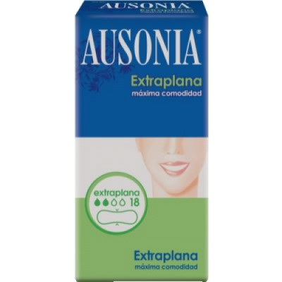 Ausonia Compresa Extraplana Normal 18 Unidades