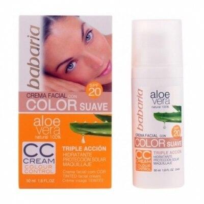Babaria Babaria Crema Facial Aloe Color Suave Fp 20