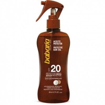 Babaria Babaria Spray Aceite Bronceador Protector Solar Coco SPF20