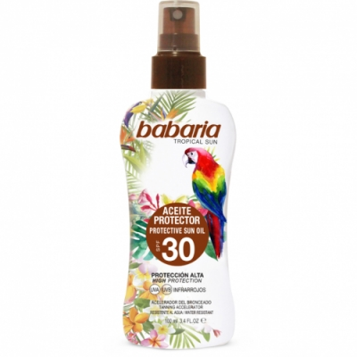 Babaria Babaria Spray Aceite Bronceador Protector Solar Tropical SPF30