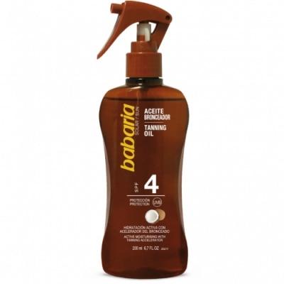 Babaria Babaria Spray Aceite Bronceador Solar Coco SPF4