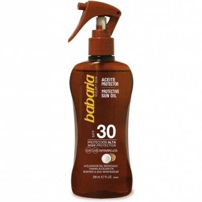 Babaria Babaria Spray Aceite Bronceador y Protector Solar Coco SPF30