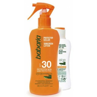 Babaria Pack Babaria Spray Protector Solar Aloe SPF30 y After Sun