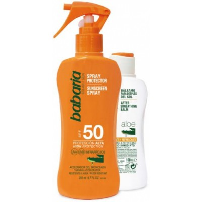Babaria Babaria Spray Protector Solar Aloe SPF50 Y After Sun