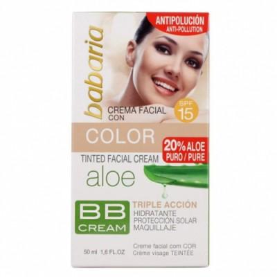 Babaria Babaria Crema Facial Aloe Vera con Color SPF15