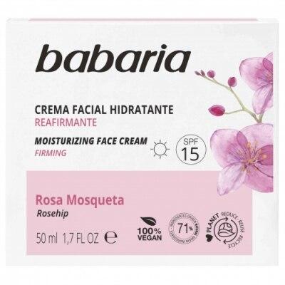 Babaria Crema Facial Hidratante 24H Rosa Mosqueta