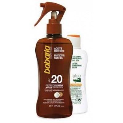 Babaria Pack Aceite Protector Solar Coco SPF20 Y Balsamo