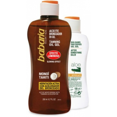 Babaria Pack Aceite Solar Gel Luminoso After Sun