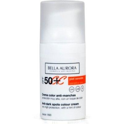 Bella Aurora Crema Color Anti Manchas SPF50 Piel Sensible