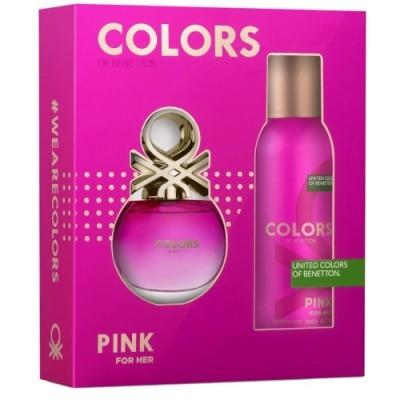 Benetton Estuche Eau De Toilette Benetton Colors Pink Más Desodorante