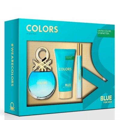 Benetton Estuche Mujer Benetton Blue con 3 piezas