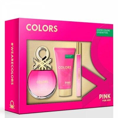 Benetton Estuche Mujer Benetton Pink con 3 piezas
