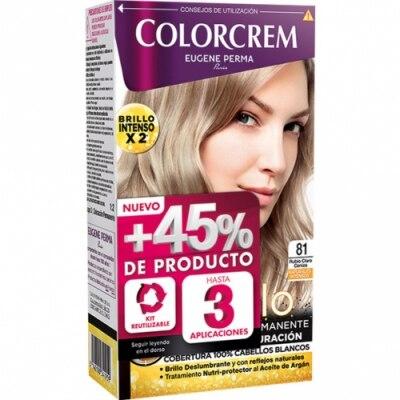 Colorcrem Colocrem Tinte Coloración Permanente Color y Brillo Rubio Claro Ceniza nº 81