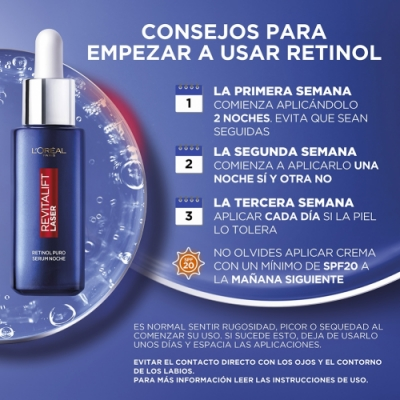 Dermo Expertise L'oréal Paris Revitalift Laser Sérum Noche Retinol Puro Arrugas Profundas