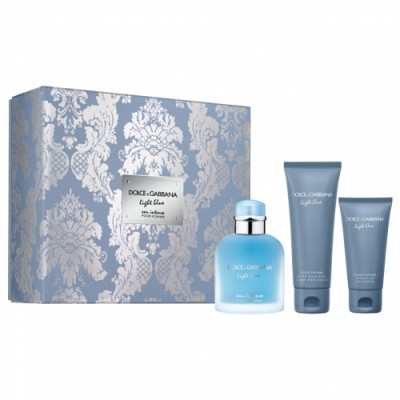 Dolce & Gabbana Estuche Light Blue Pour Homme Intense Trio