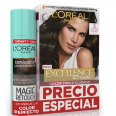 Excellence L'Oreal París Excellence Creme Tintes nº3 más Magic Retouch