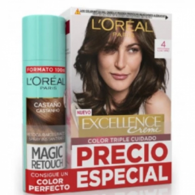 Excellence L'Oreal París Excellence Creme Tintes nº4 más Magic Retouch