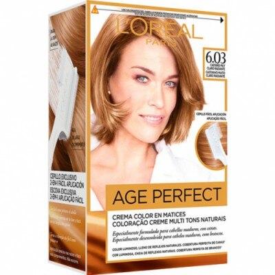 Excellence Tinte Capilar Age Perfect nº 6,03 Castaño Claro Radiante