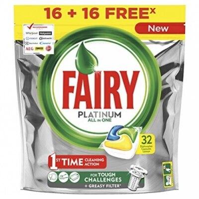 Fairy Fairy Platinum Limón Cápsulas de Lavavajillas
