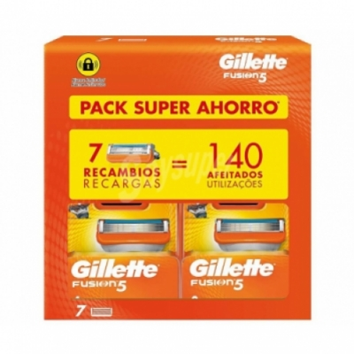 Gillette Pack Super Ahorro Recambios Guillette Fusion 5