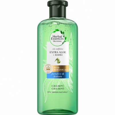 Herbal Essences Herbal Essences Bio Renew Champú sin Sulfatos con Aloe Intenso y Bambú