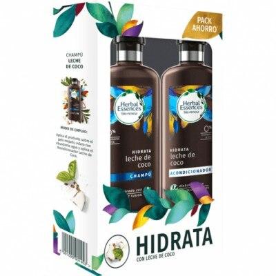 Herbal Essences Pack Bio Renew Champú Más Acondicionador Con Leche De Coco