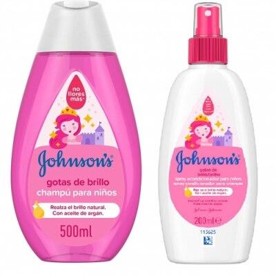 Johnson´s Pack Johnsons Champú Niños Gotas de Brillo y Spray Acondicionador