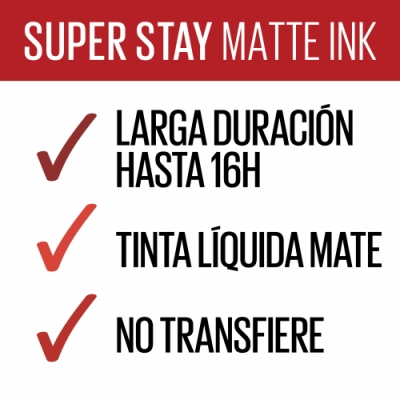 Maybelline Maybelline New York SuperStay Matte Ink Pintalabios Líquido