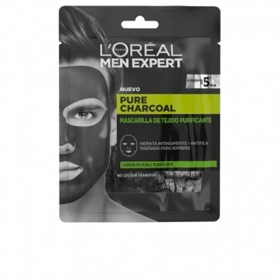 Men Expert Loreal Men Expert Pure Charcoal Mascarilla De Tejido