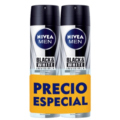 Nivea Black And White Invisible Desodorante Spray Duplo