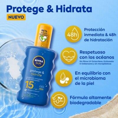 Nivea Nivea Sun FP 15 Protege & Hidrata Spray Solar Hidratante