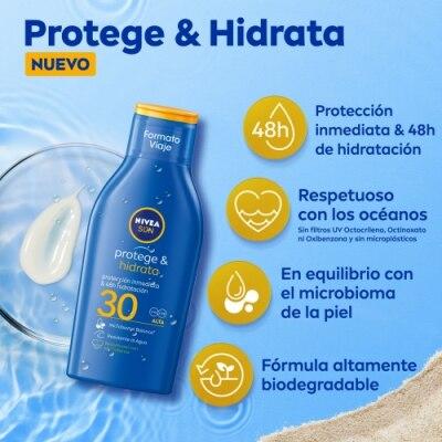 Nivea Nivea Sun FP 30 Protege & Hidrata Loción Solar Tamaño Viaje