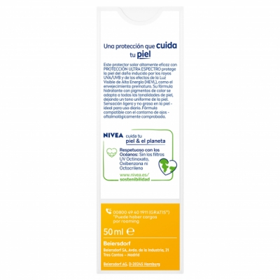 Nivea Nivea Sun FP 50 Crema Solar Facial BB Cream Antiedad