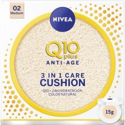 Nivea 02, Medium Q10 Plus Anti Aging Cream With Colour 3 en 1