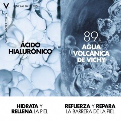 Vichy Minéral 89 Sérum Concentrado Fortificante Con Ácido Hialurónico