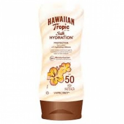 Hawaiian Tropic Bronceador Silk Hydratation SPF50