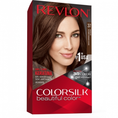 Color Silk Revlon Tinte Capilar Nº37 Castaño Dorado Oscuro