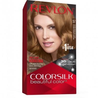 Color Silk Revlon Tinte Capilar Nº57 Castaño Dorado Muy Claro