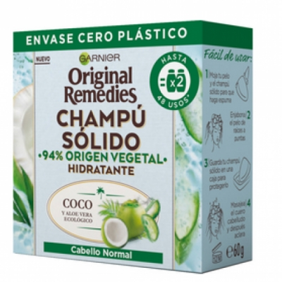 Original Remedies Original Remedis Champú Sólido Coco y Aloe Vera