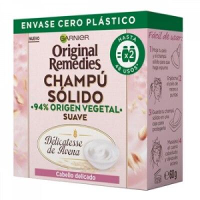 Original Remedies Original Remedis Champú Sólido Delicatesse Avena