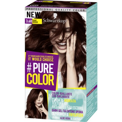 Pure Color Schwarzkopf Tinte Capilar 3.68 Vamp Brown